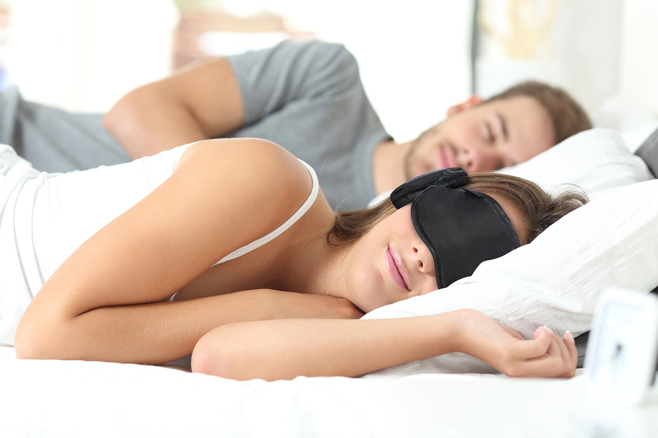 New 2018 Generation 6. Hibermate Sleep Mask with Ear Muffs for Sleeping. Soft & Luxurious Mask, Satin Exterior, Removable Ear Cups Reduce Noise by Approx 15-20db Nrr. (Gen 6 Dark Navy)