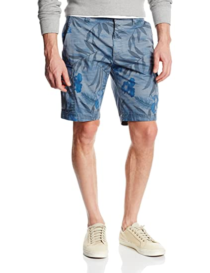 Bugatti Men s Short - Blue - 36  Amazon.co.uk  Clothing 8c9d8fab06