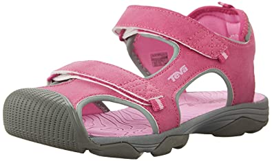 6e86254d0f4a11 Teva Kids Girl s Toachi 4 (Little Kid Big Kid) Pink Grey Sandal