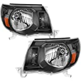 AUTOSAVER88 Headlight Assembly Compatible with 2005-2011 Toyota Tacoma Pickup Truck Headlight Assembly OE Style Replacement B