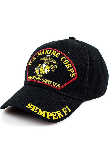 Marine Corps Bulldog USMC Logo Adjustable Baseball Hat Dad Hats Trucker Hat Sandwich Visor Cap
