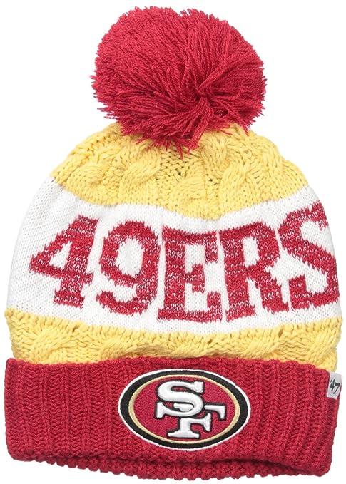 010b32e704e52f '47 NFL San Francisco 49ers Women's Swanson Cuff Knit Beanie with Pom, One  Size
