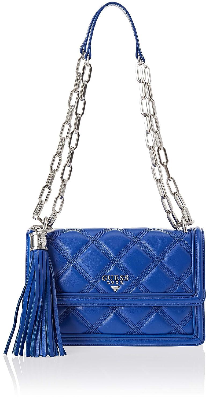 Guess Uptown Chic, Borsa a Tracolla Donna, Blu (Cobalt), 9x13x21 cm (W x H x L)