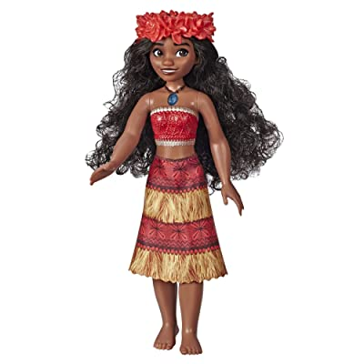 "Disney Princess Musical Moana Fashion Doll with Shell Necklace, Sings ""How Far I'll Go,"" Toy for 3 Year Olds and Up: Toys & Games"