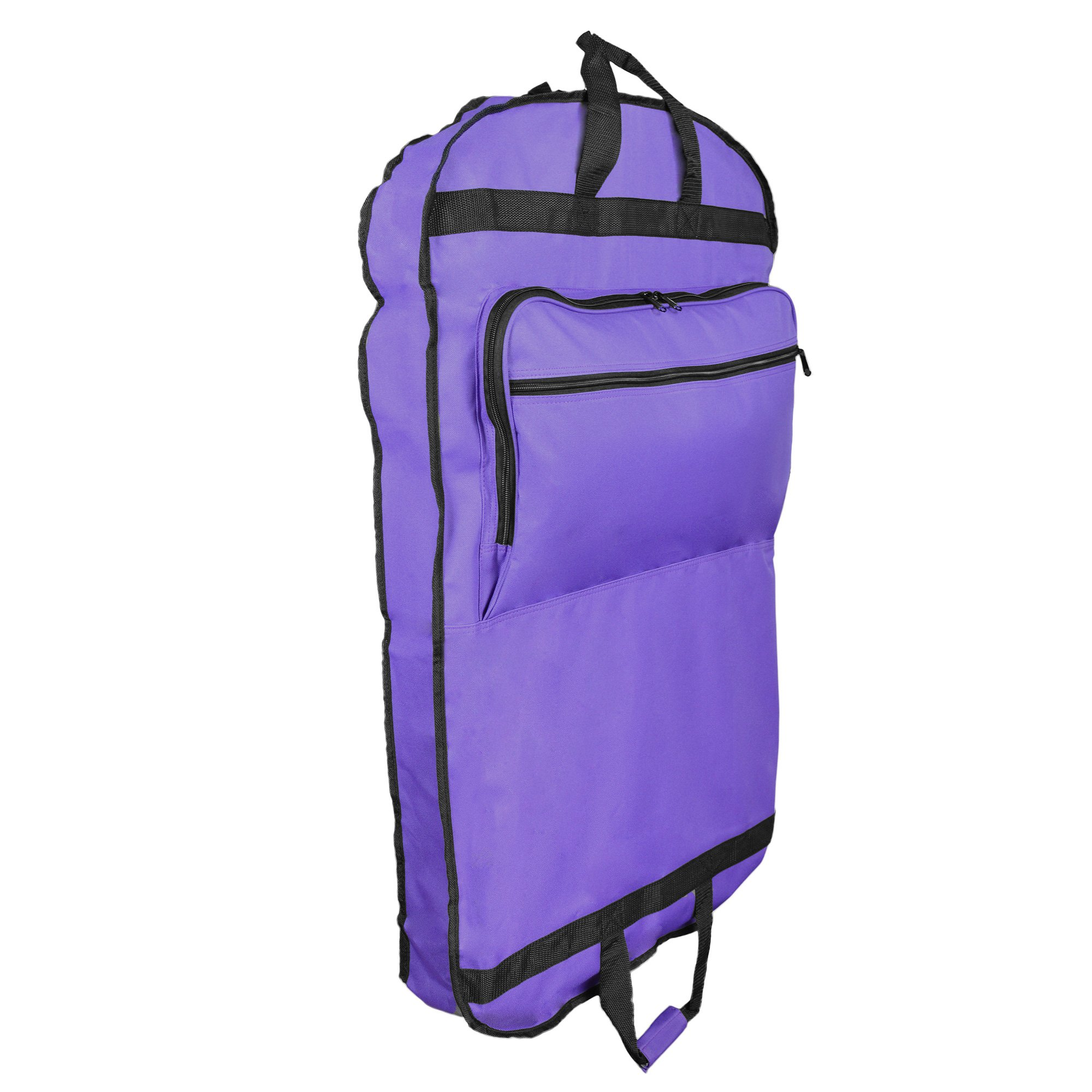 DALIX 39'' Garment Bag Cover Suits Dresses Clothing Foldable Shoe Pocket in Purple