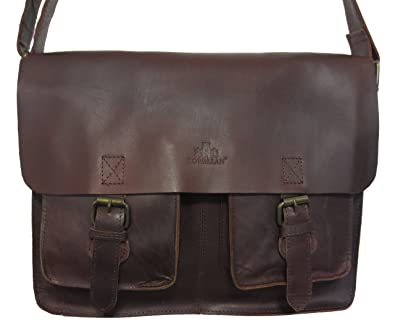a5289a9720c36 ROWALLAN LARGE BROWN BUFFALO LEATHER SATCHEL SHOULDER BAG  Amazon.co.uk   Shoes   Bags