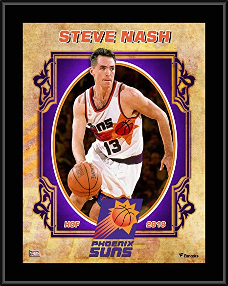 "f7ff51843e2 Steve Nash Phoenix Suns 10.5"" x 13"" Sublimated Hardwood Classics  Player Plaque - NBA"