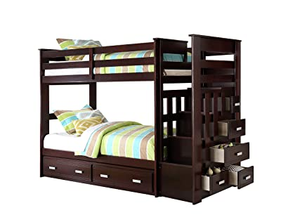 Acme 10170 Allentown Twin/Twin Bunk Bed with Storage Drawers and Trundle