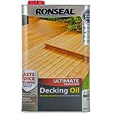Ronseal RSLUDONC5L 5L Ultimate Protection Decking Oil - Natural Cedar