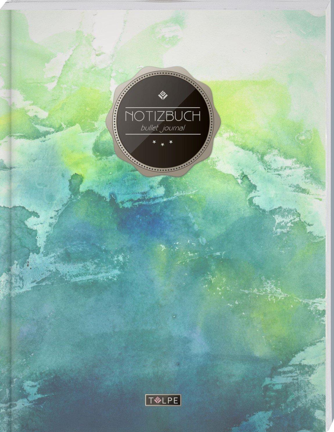 """TULPE Bullet Journal A4 """"C003 Grunge"""" (140+ Seiten, Vintage Softcover, Punktkariertes Papier – Punktraster Notizbuch, Handlettering, Skizzenbuch, Zeichenbuch) Taschenbuch – Großdruck, 19. August 2017 Tulpe BuJo's 1975615891"""