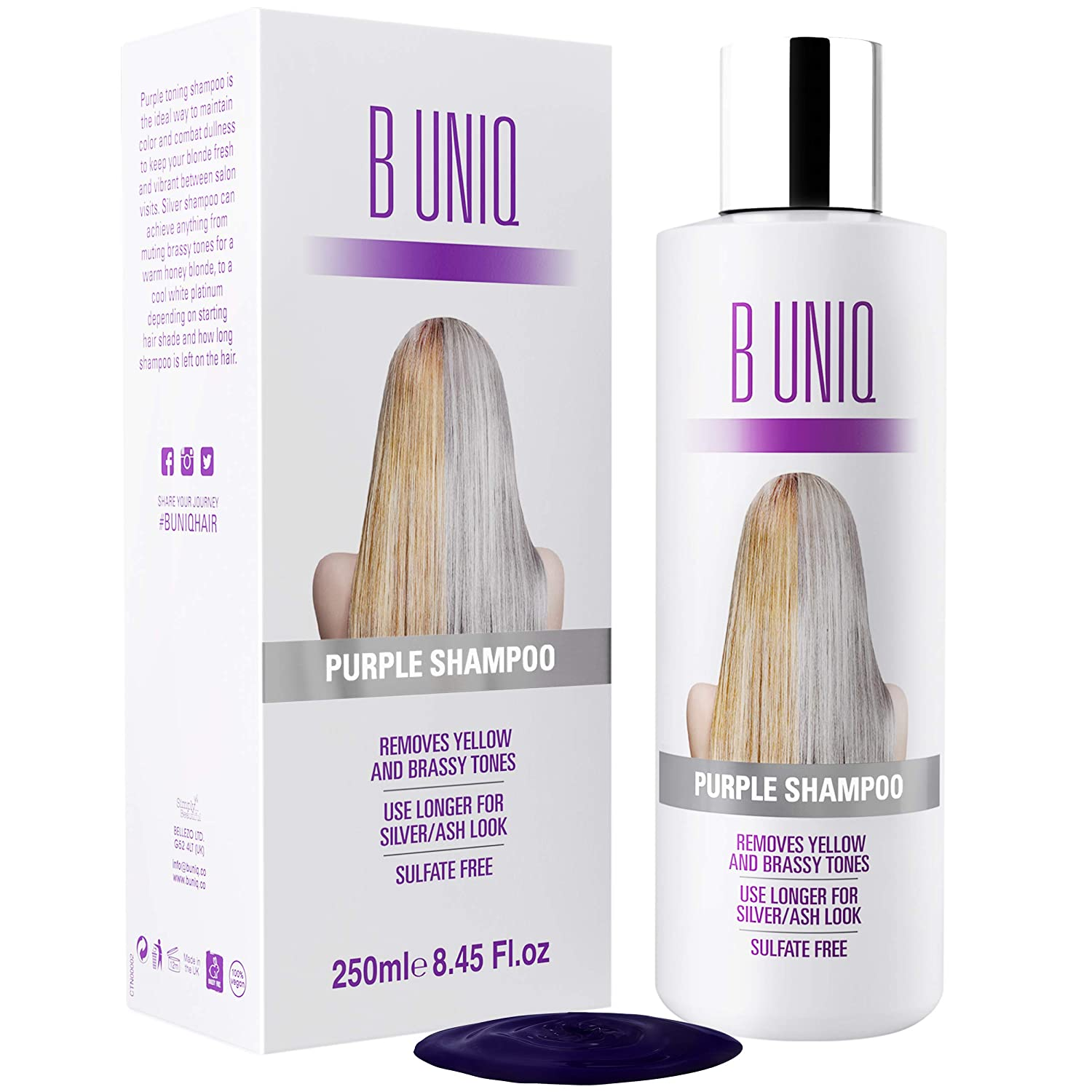 Purple Shampoo for Blonde Hair: Blonde Shampoo Eliminates Brassy Yellow Tones