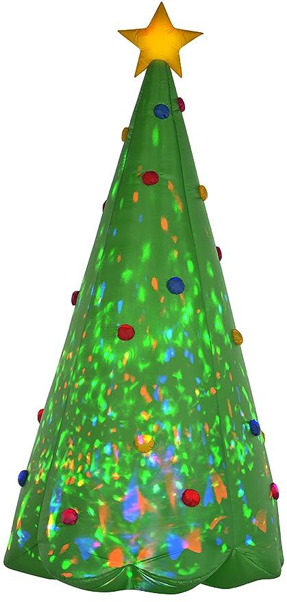 Christmas Tree Inflatable.Gemmy 89776 Green Tree Christmas Inflatable 8 Feet Tall