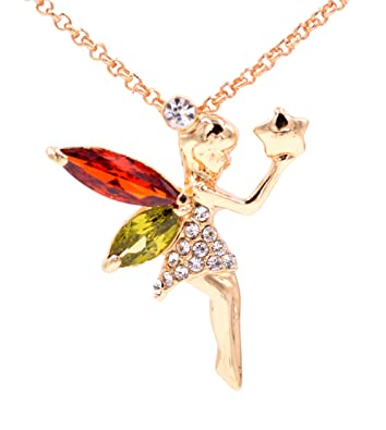 Gold plated little fairy pendant necklace crystal jewellery 18 in gold plated little fairy pendant necklace crystal jewellery 18 in an organza gift aloadofball Gallery