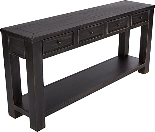 Signature Design by Ashley – Gavelston Console Table, Rubbed Black Finish