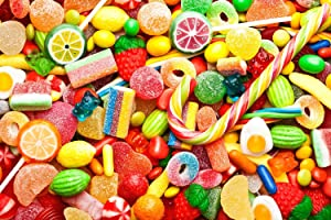 Toynk Candy Puzzle for Adults and Kids | 1000 Piece Jigsaw Puzzle | Family Game Night Candy Snacks Puzzle
