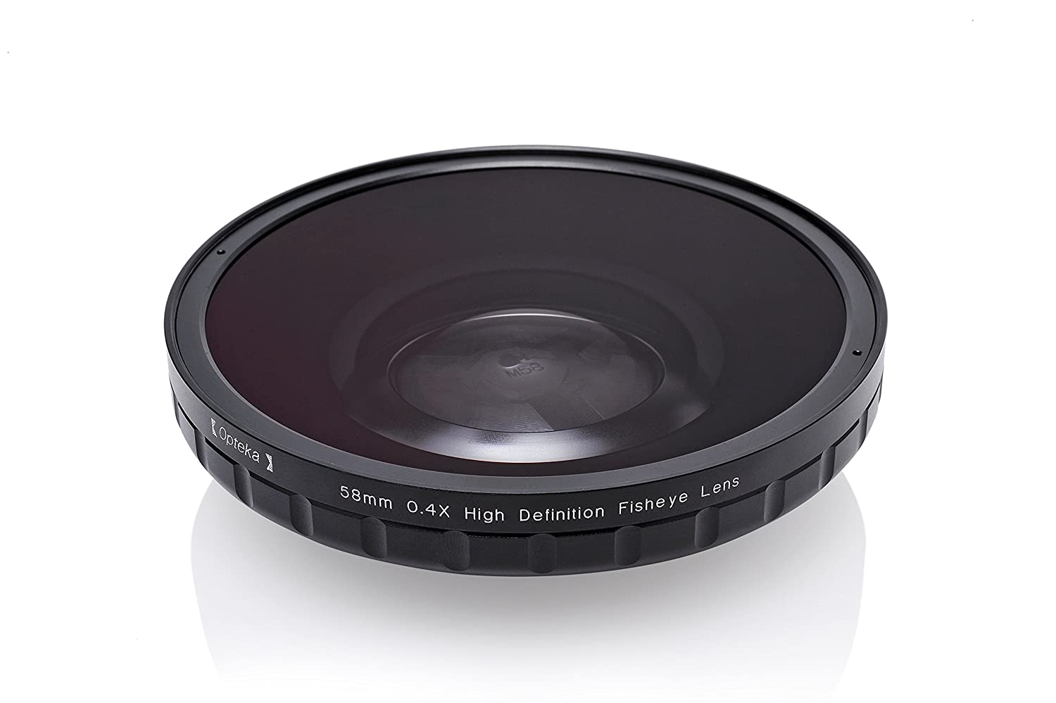 Opteka 58mm 0.4X HD2 Large Element Fisheye Lens for Professional Video Camcorders