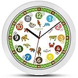 ONETIME MNU 1330 - Reloj de pared para niños colorido