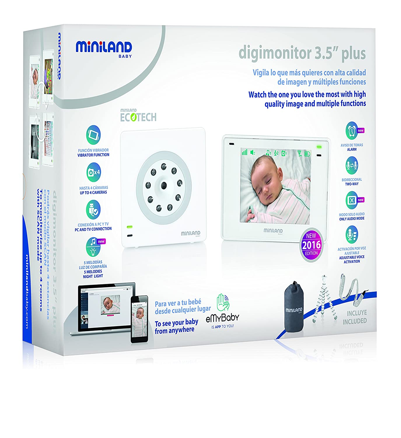 Miniland Digital Video Baby Monitor Amazon Baby