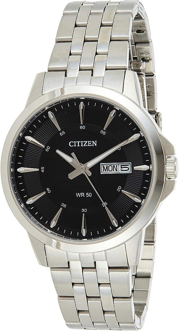 Citizen orologio da uomo analogico con movimento al quarzo in acciaio inox bf2011 – 51ee BF2011-51EE