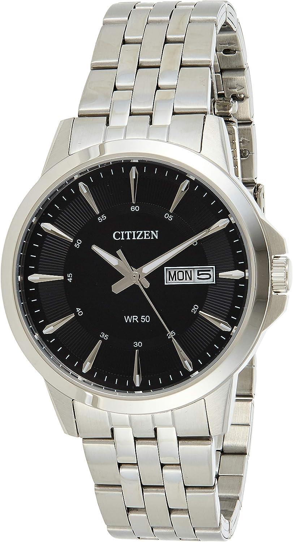 Citizen 32001463 - Reloj analógico de cuarzo para hombre, acero inoxidable