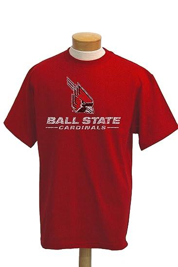 7d8c42306fe Amazon.com   NCAA Ball State Cardinals Biggies Short Sleeved T-Shirt    Sports Fan T Shirts   Clothing