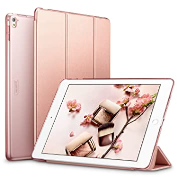 super popular 02c66 e5e41 iPad Pro 9.7 Case, ESR® iPad Pro 9.7 Smart Case Cover [Synthetic Leather]  and Translucent Frosted Back Magnetic Cover with Sleep / Wake Function ...