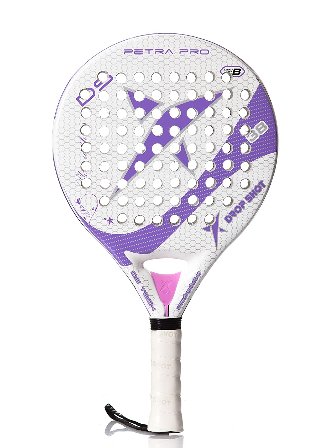 DROP SHOT Pala Petra Pro Blanco/Morado Única: Amazon.es ...