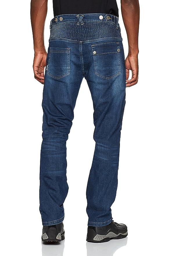 Overlap Jeans de Moto Road, Elegante Azul Claro, 32: Amazon ...