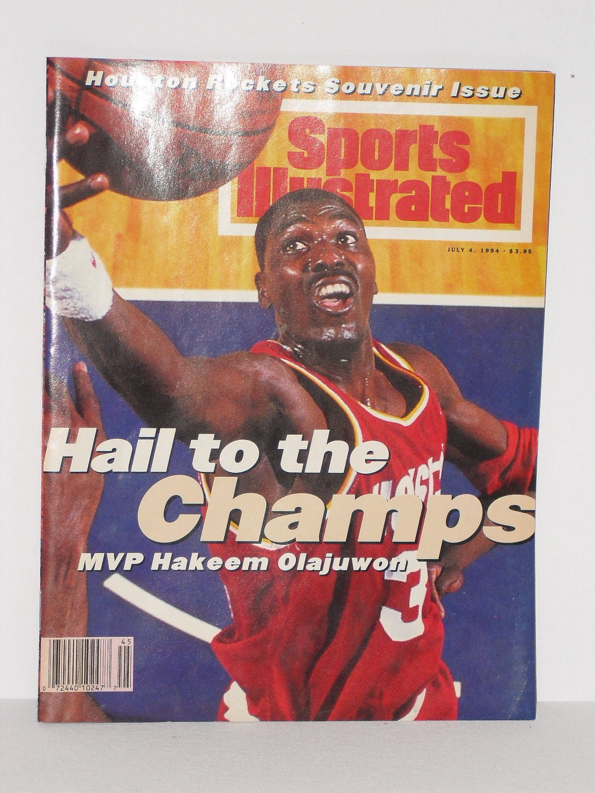 check out e0614 35470 Sports Illustrated July 4, 1994 - Houston Rockets Souvenir ...