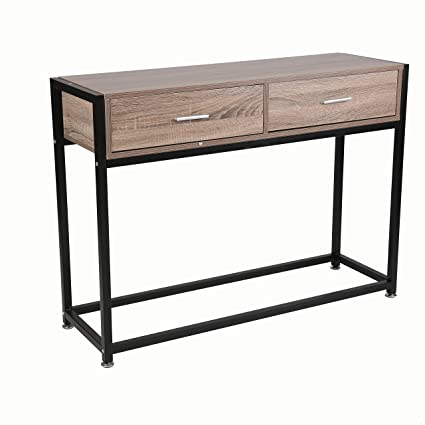 more photos 8084b 7dd2d Amazon.com: Livebest Sofa Console Table with Storage Drawers ...