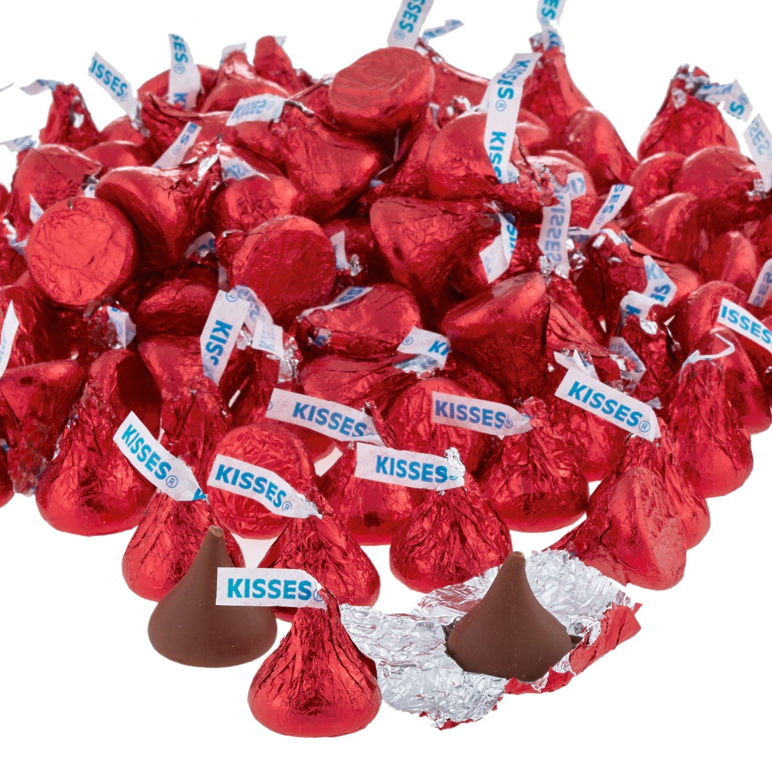 HERSHEY'S KISSES Chocolate Candy, Red Foils, 4.1lb Bulk Candy, approx. 400 Pieces. Perfect for Graduation and 4th of July Decorations by Kisses (Image #6)