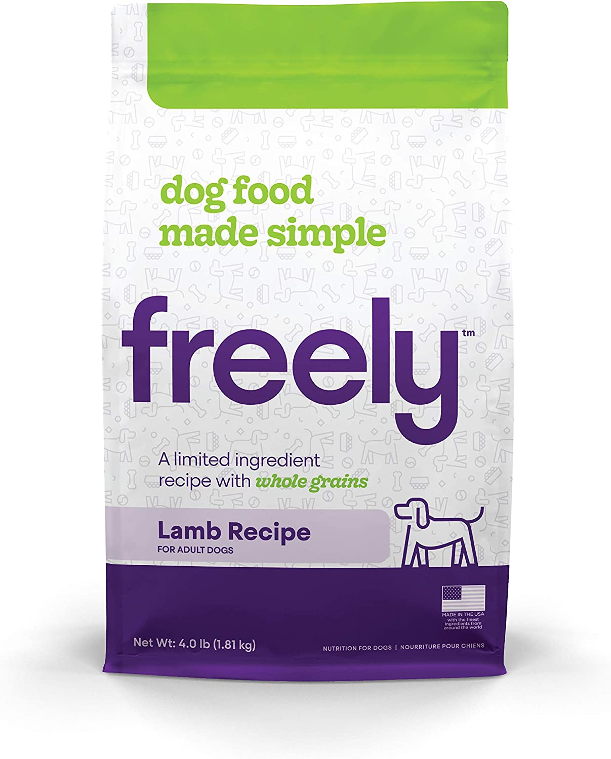 Freely Limited Ingredient Diet, Natural Dog Food, Whole Grain Adult Dry Dog Food