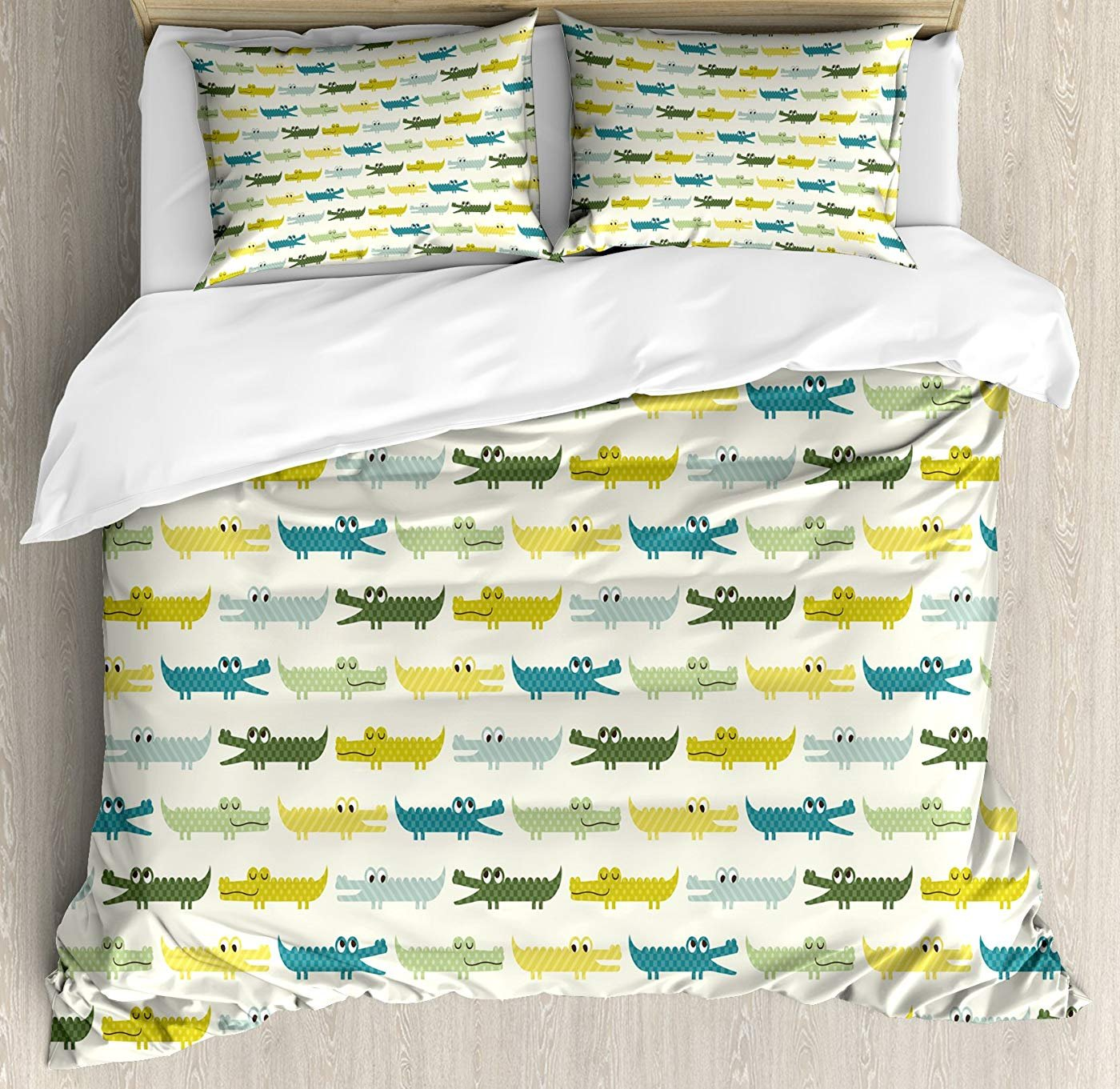 Multi 4 Queen Peacock Duvet Cover Set Twin Size, Peacock Feather Illustration in Simplistic Artistic Style Wild Nature Life Print,Lightweight Microfiber Duvet Cover Sets, Green bluee