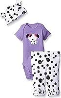Gerber Baby Girls' 3 Piece Bodysuit, Cap, and Legging Set
