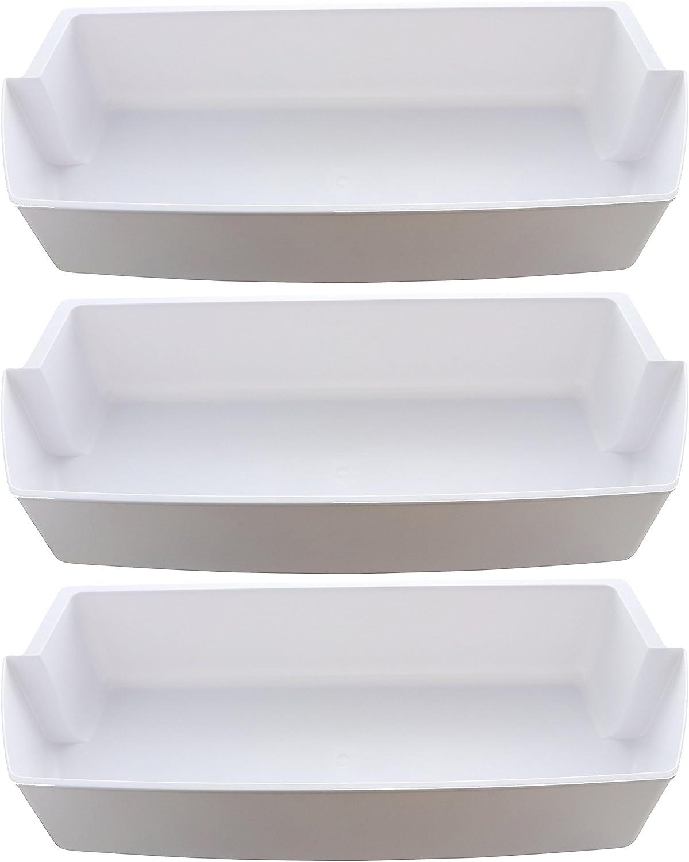 Kitchen Basics 101: 3-Pack Door Shelf Bins 2187172 Replacement for Frigidaire Whirlpool Kenmore Refrigerator PS328468: Home Improvement