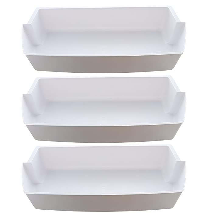 3-Pack Door Shelf Bins 2187172 Replacement for Frigidaire Whirlpool Kenmore Refrigerator PS328468