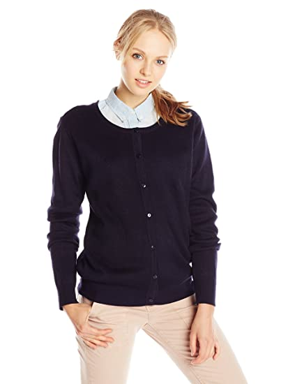 8d40ddb4d90c Classroom School Uniforms Juniors Button-Front Jewel Neck Cardigan ...