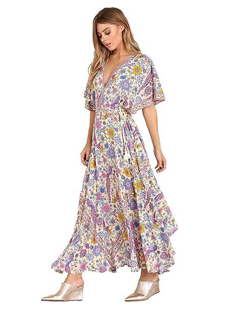 a5bdf5e13ca4 Spell Lovebird Half Moon Gown Chamomile: Amazon.ca: Clothing & Accessories