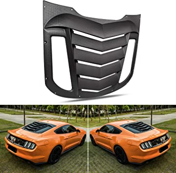 Black Rear Window Louvers Sun Shade Cover GT Lambo For Ford Mustang 2015-2019