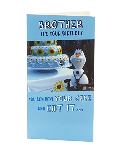 Amazon Disney Frozen Olaf Brother Birthday Card Office Products