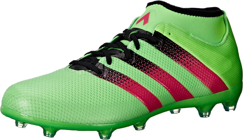 adidas Rendimiento Hombre Ace 16.2 Primemesh FG/AG Zapato de fútbol, (Shock Green/Shock Pink/Black), 44: Amazon.es: Zapatos y complementos