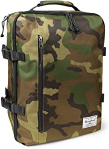 Rangeland Travel Backpack NEW 2020 21L Carry on Daypack Fits 15 inch Laptop Notebook and Travel Accessories Meets IATA Flight Standards Green Camo