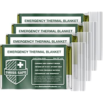 reliable Swiss Safe Emergency Mylar Thermal Blankets