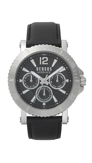 Versus by Versace Reloj Analogico para Hombre de Cuarzo con Correa en Cuero VSP520218