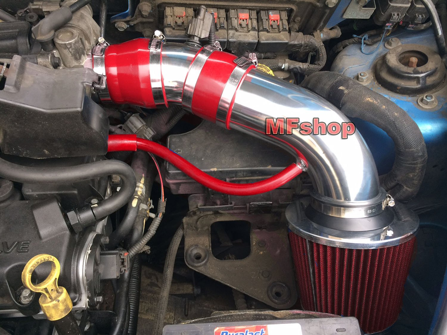 Amazon.com: 2001 2002 2003 2004 2005 2006 2007 2008 2009 Chrysler PT Cruiser  2.4L L4 Non-Turbo Air Intake Filter Kit System (Red Filter & Accessories):  ...