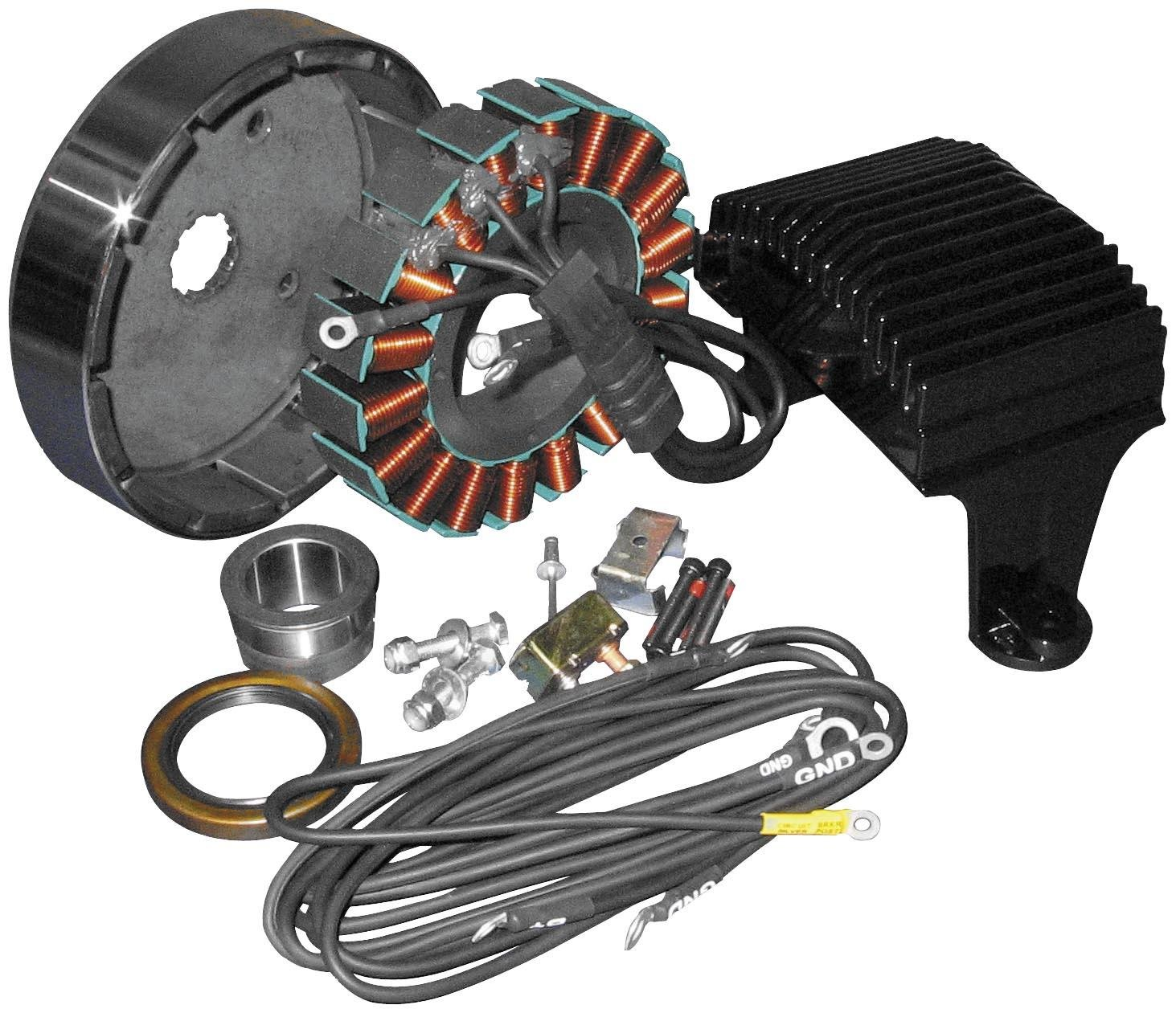 Harley 3 Wire Stator Wiring Simple Diagram Amazon Com Cycle Electric Ce 8011 Automotive 4 Transmitter