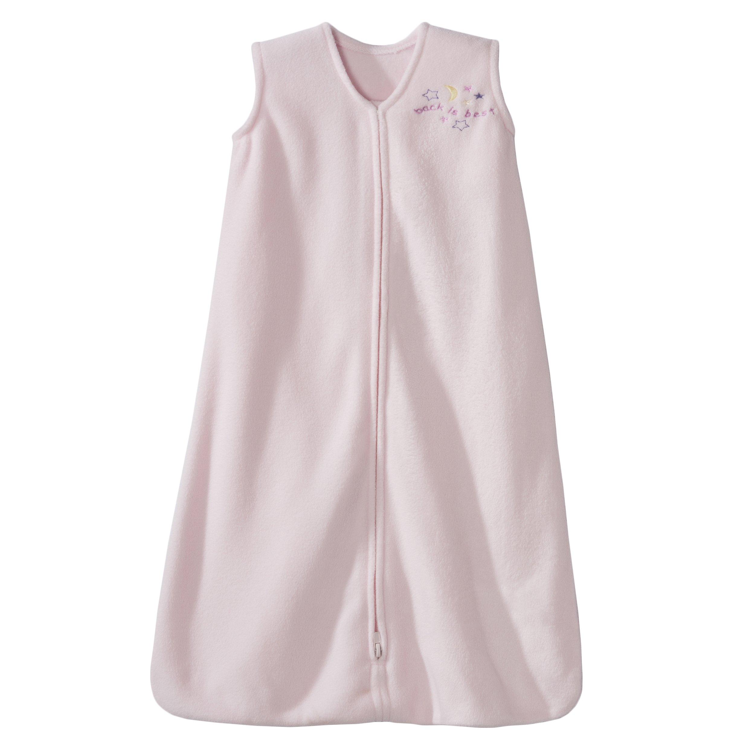 HALO SleepSack Micro-Fleece Wearable Blanket, Soft Pink, Medium