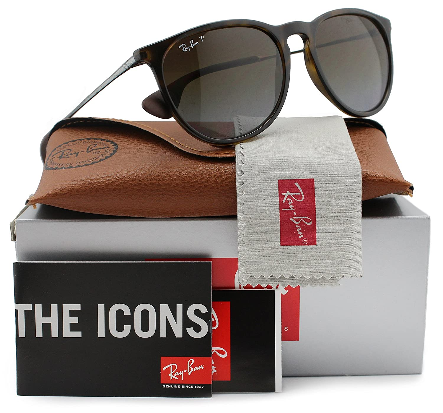 d8e3abd73b8a Amazon.com  Ray-Ban RB4171 Erika Polarized Sunglasses Havana w Brown  Gradient (710 T5) 4171 710T5 54mm Authentic  Clothing
