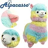 """KOSBON 14 """" Regenbogen Plüsch Alpaka, niedliches weiches angefülltes Tier-Spielzeug, beste Geschenke für Kinder."""