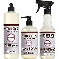 Mrs. Meyer's Clean Day Kitchen Basics Set, Lavender, 3 ct: Dish Soap (16 fl oz), Hand Soap (12.5 fl oz), Multi-Surface Everyday Cleaner (16 fl oz)